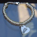 Sweetie Snake Bracelet with Small Print Charm