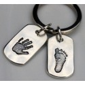 Personalised Dog Tag Key Ring