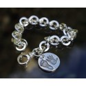 Chunky Round Link Bracelet with Large B2B Charm