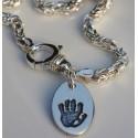 Byzantine Bracelet with Oval Charm