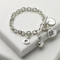Birth Day Bundle Bracelet with Small Charm