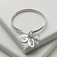 Toggle Bangle with Small Charm
