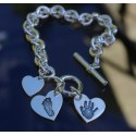 Chunky Classic Toggle Bracelet & Small Charm