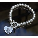 Bead Toggle Bracelet with Small Charm