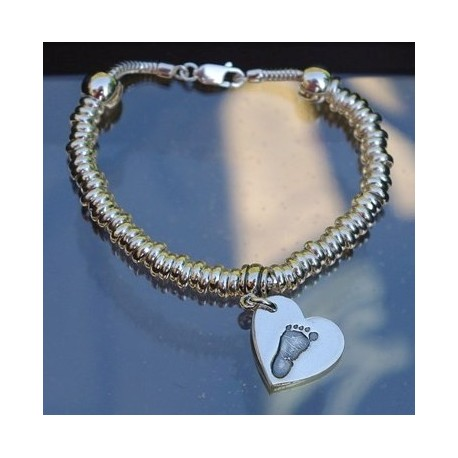 Sweetie Snake Bracelet with Small Charm