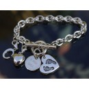 Birth Day Bundle Bracelet with Large Charm