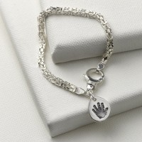Byzantine Bracelet with Personalised Charm
