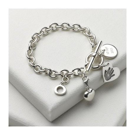 Birth Day Bundle Bracelet with Small Charm