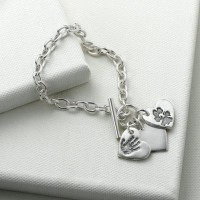 Classic Toggle Bracelet with Small Charm